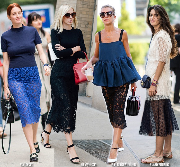 How to Wear | Lace Skirts & Dresses - Blue is in Fashion this Year
