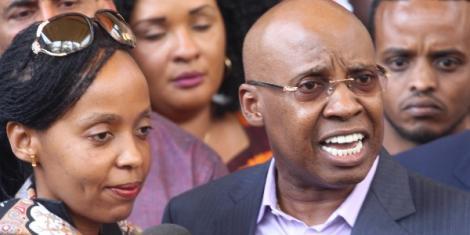 Billionaire Jimi Wanjigi and his wife <a class=