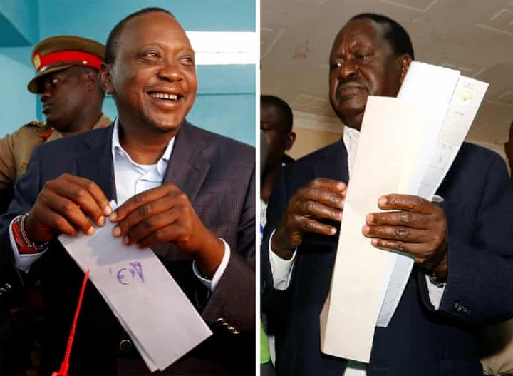 Kenyans queue for hours to vote amid fears of post-election violence   <a class=