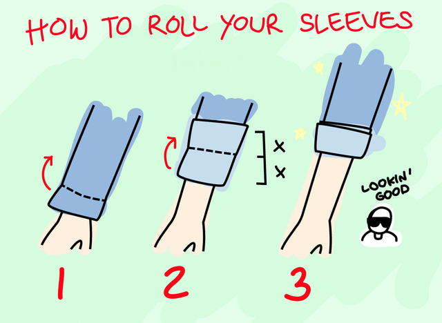 How to properly roll up your sleeves without crinkling them: lifehacks