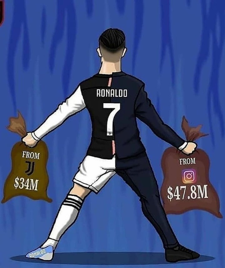 Christiano Ronaldo earns more money as an Instagram influencer than being Juventus player. 54