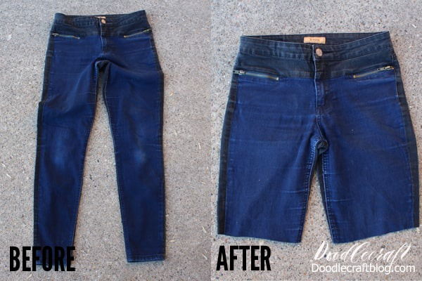 How to Upcycle Jeans into Bermuda Shorts DIY