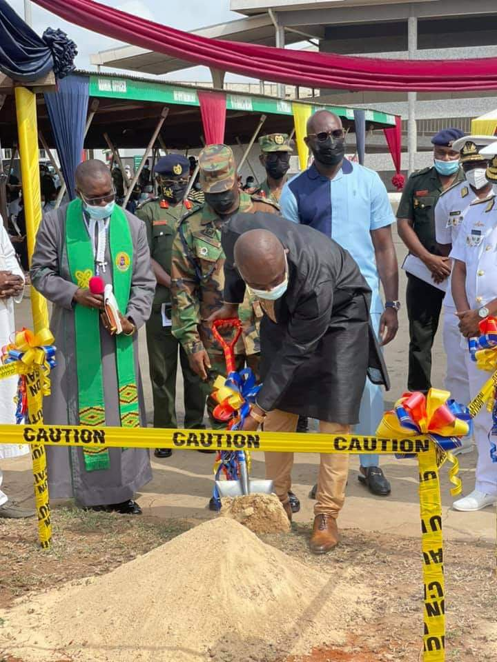 Photos: Kennedy Agyapong cuts sod to construct a Cardio Centre at 37 Military Hospital. 65