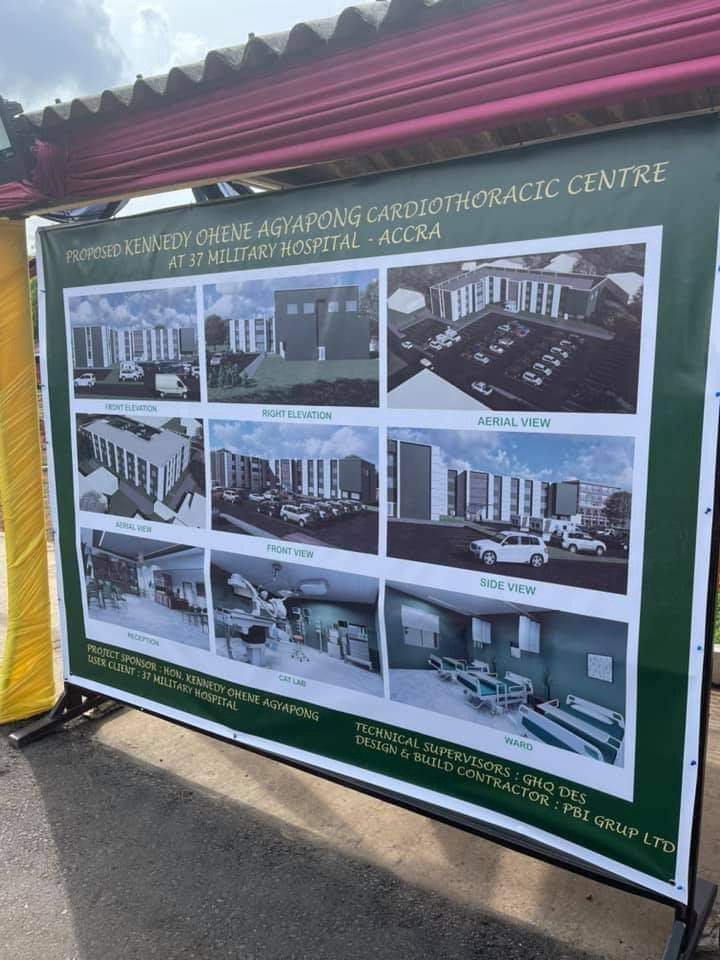 Photos: Kennedy Agyapong cuts sod to construct a Cardio Centre at 37 Military Hospital. 66
