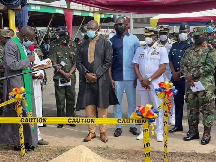 Photos: Kennedy Agyapong cuts sod to construct a Cardio Centre at 37 Military Hospital. 67
