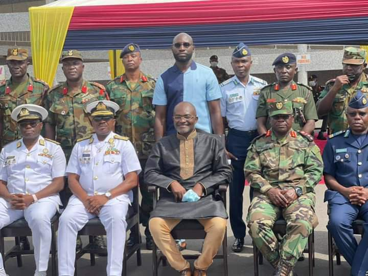 Photos: Kennedy Agyapong cuts sod to construct a Cardio Centre at 37 Military Hospital. 70