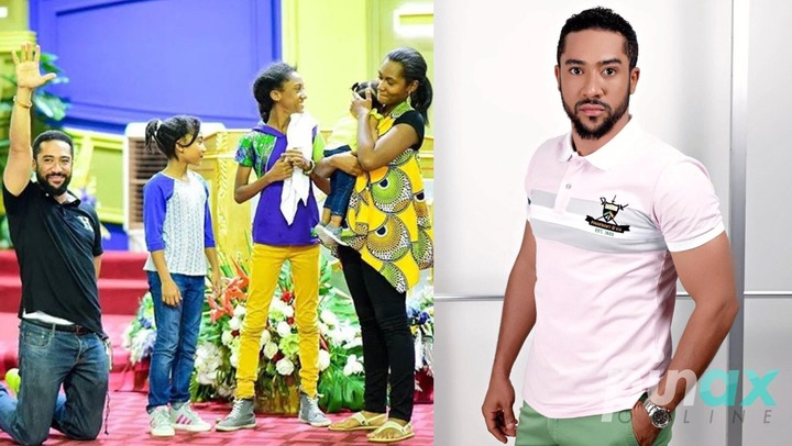 Pictures of Majid Michelle and his lovely family causes stri online. 5