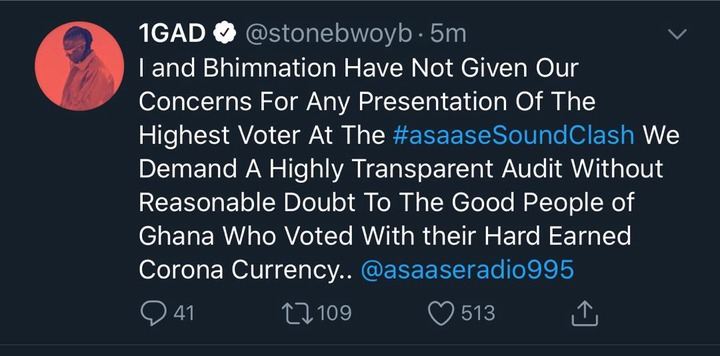 Stonebwoy demands Transparent audit to concede defeat to Shatta Wale as the  winner of the soundclash - Opera News