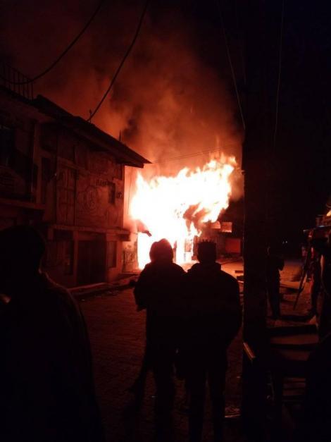 Mlolongo Residents Watching From Far as Fire Razes Down Their Properties