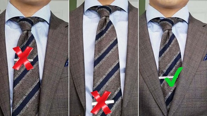 How to Wear a Tie Bar: Styling Inspiration & Rules To Know   Tie bar, How  to wear a tie, Tie