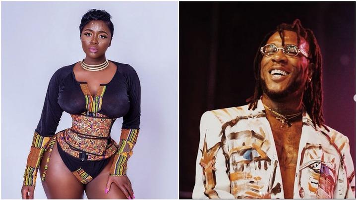 Ghanaian actress Princess Shyngle and Nigerian music star Burna Boy [Instagram/PrincessShyngle] [Instagram/BurnaBoyGram]