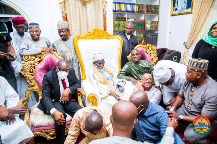 Photos of Alban Bagbin, Chief Imam, Haruna Iddrisu and Muntaka defying covid-19 protocol. 52
