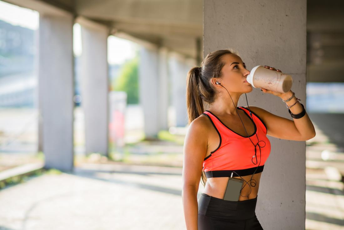 Protein shakes are good weight gain foods