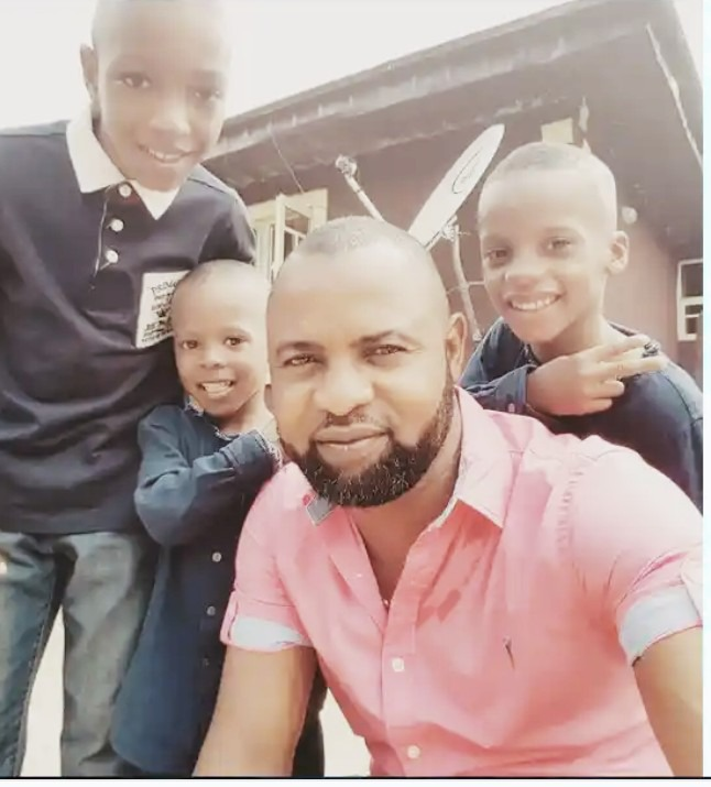 Do you remember the Nollywood actor Akin Olaiya? Check out pictures of his wife & children [Photos]