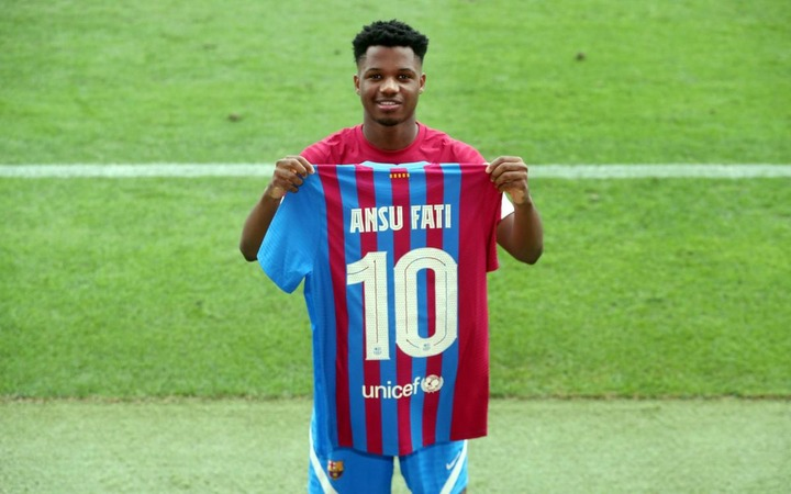 Ansu Fati to wear the number 10 shirt