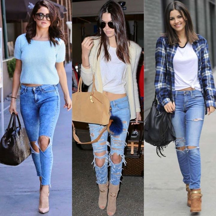 3 Celebrities Wearing Ripped Jeans <3 Who wore it best? | Cool outfits,  Outfits, Fashion