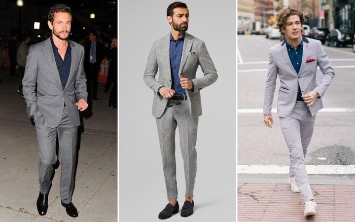 Best Shirts To Wear With A Grey Suit (2020 Men's Style Guide) | Grey suit  men, Best dress shirts, Gray suit