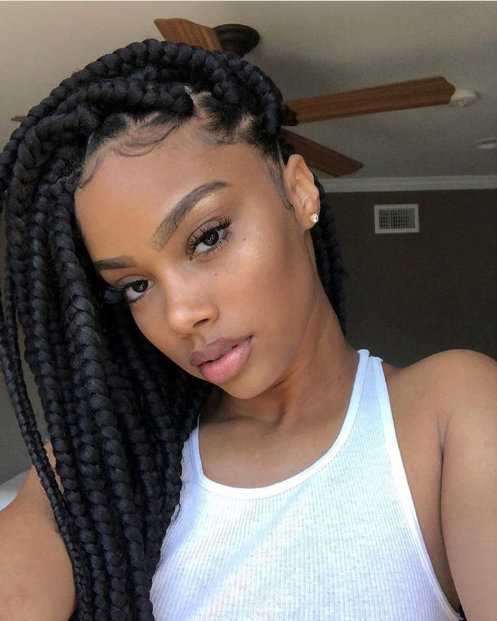Chic braid hairstyle for girls