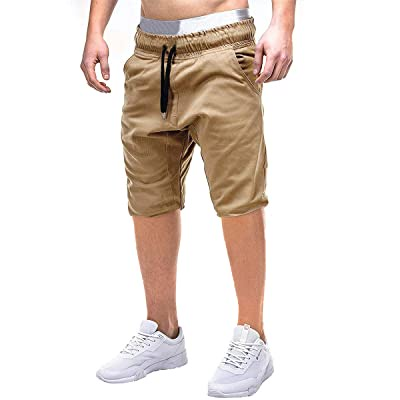 Buy Casual Mens Jogger Shorts Elastic Waist Shorts Classic Fit Workout  Drawstring Beach Shorts with Pockets Online in Nigeria. B08B3RQZ34