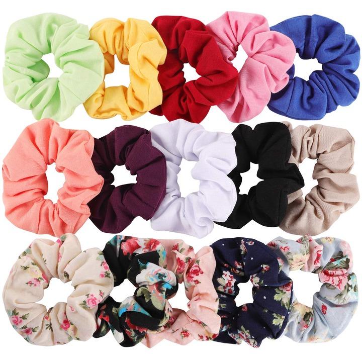 Buy Hair Scrunchies Cotton Elastic Hair Bands 15 Pcs Scrunchies for Hair  Accessories for Women or Girls Online in Turkey. B07JMJLGQ8