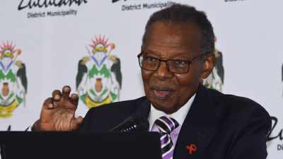 Zulu premier Inkosi Mangosuthu <a class=