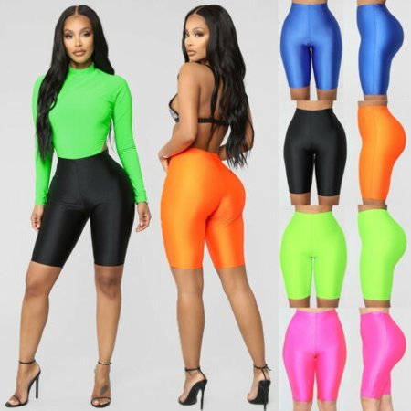 Women Skinny Running Sports Short Leggings Compression Fitness Strechy  Solid Pure Color Skinny | Walmart Canada