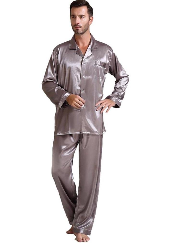 Men's Clothing, Sleep & Lounge, Sleep Sets, Mens Silk Satin Pajamas Set  Sleepwear Loungewear S~4XL Plus - G… | Mens silk pajamas, Satin pyjama set,  Mens pajamas set