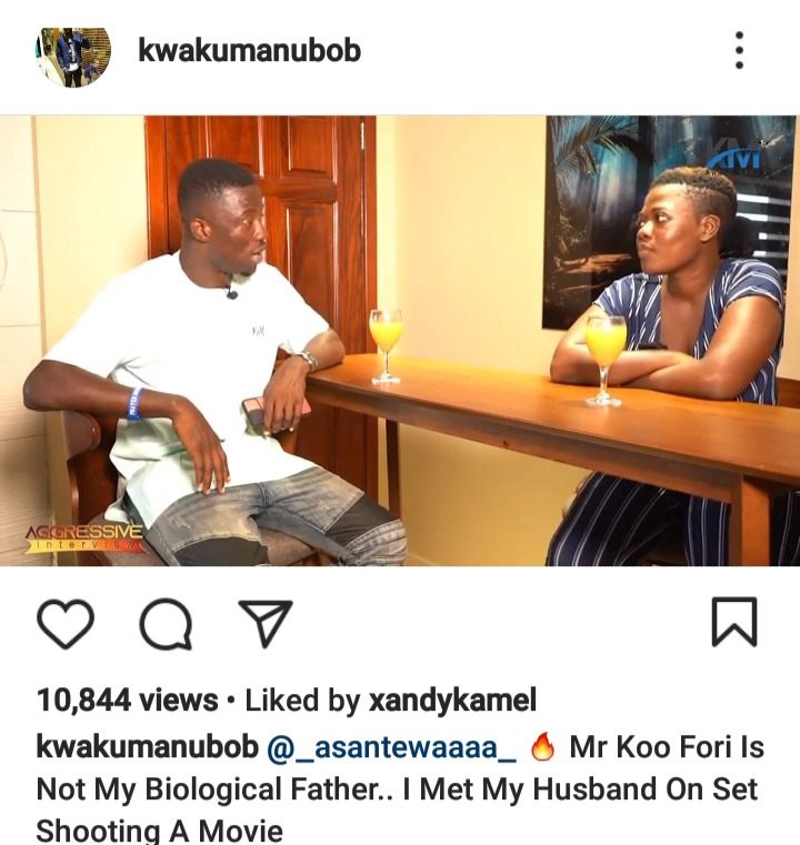 Koo Fori Is Not My Biological Father - Asantewaa Clears The Air 1
