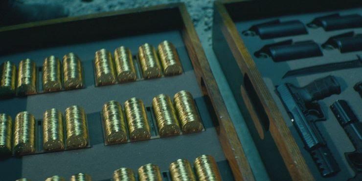 John Wick Coins and Guns