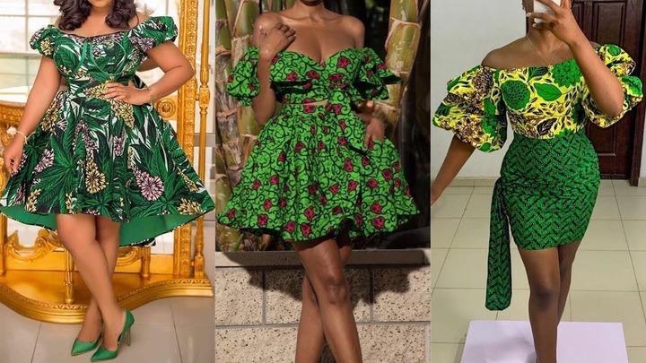 2021 COLLECTION TRENDY GREEN ANKARA PRINTS STYLES | MODÈLE DE ROBE  AFRICAINE EN ROUGE 💚 | Fashion Style Nigeria