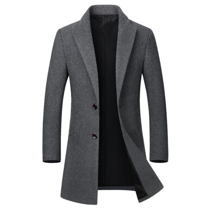 Fashion Men's Long Cotton Collar Trench Coat   Jumia Nigeria