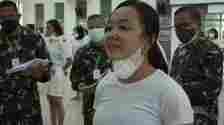 Cuplikan layar video viral seorang calon bintara wanita TNI AD Kodam I Bukit Barisan bernama Elvina Sela br Sembiring menjawab pertanyaan Pangdam I Bukit Barisan.