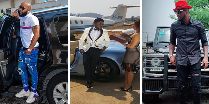 Nigerian celebrities & their beautiful cars in Social Media pictures – No.8 is a JET on land!!