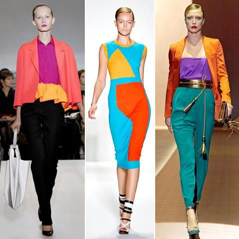 10 Complementary ideas   colorful fashion, fashion, split complementary  colors