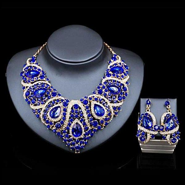 Eissely Luxurious Women's Blue Rhinestone Bridal Jewellery Sets price from  jumia in Nigeria - Yaoota!
