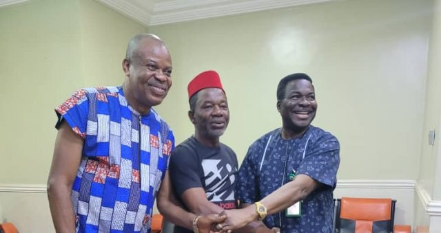 PHOTOS: Chiwetalu Agu Visits Ozekhome After Release From DSS Custody