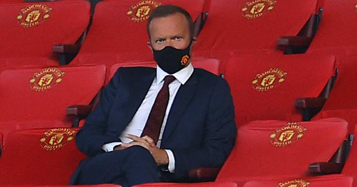 Ed Woodward sits in stands at <a class=