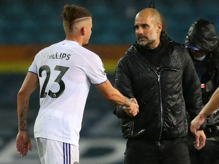 What Pep Guardiola said to Kalvin Phillips after Man City draw vs Leeds  United - Manchester Evening News