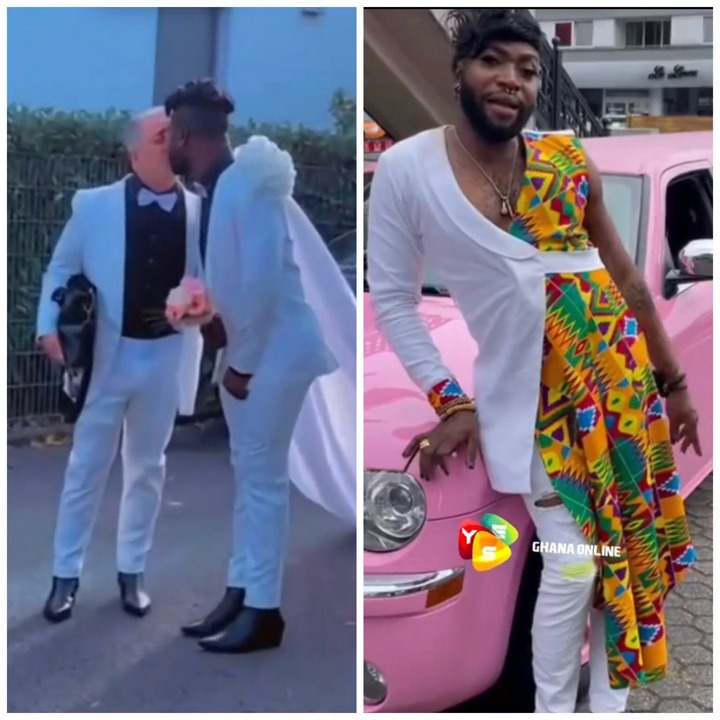 Social media set ablaze as pictures of the white wedding of a Ghanaian Gay emerges (video). 55