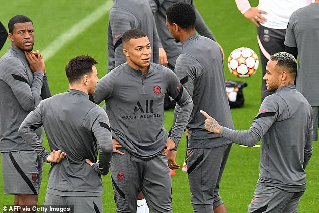 Lionel Messi STARTS first PSG match in Champions League tie at Club Brugges  with Neymar and Mbappe   Daily Mail Online