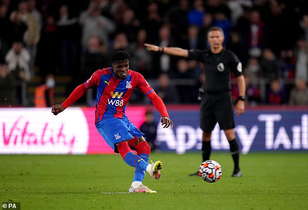 Wilfried Zaha dispatched the spot-kick to open the scoring in the Premier League clash