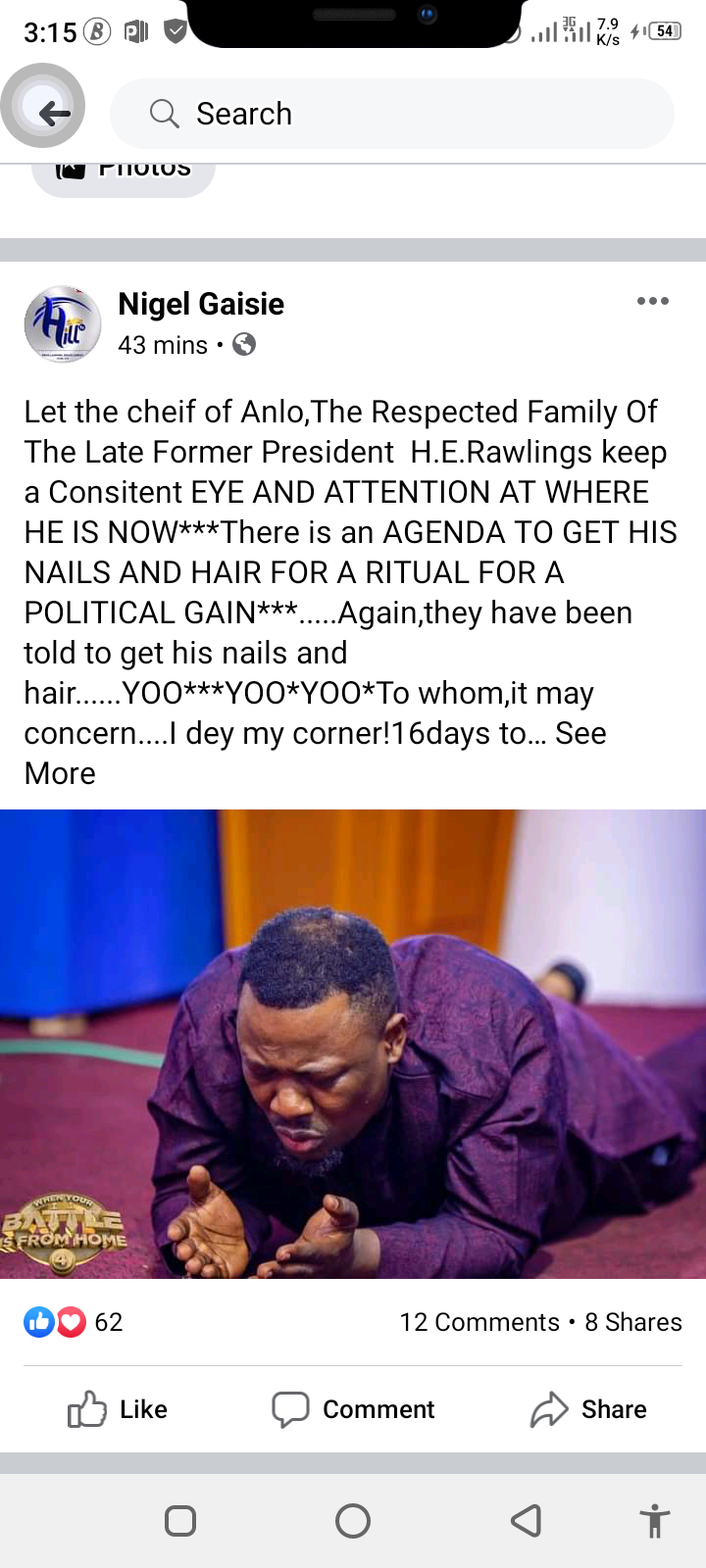 Rawlings Nails and Hair Will Be Use For Ritual - Prophet Nigel Gaise 1