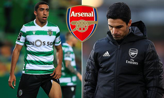 Arsenal 'dealt blow in pursuit for Tiago Tomas with Sporting Lisbon  reluctant to sell £20m star' | Daily Mail Online