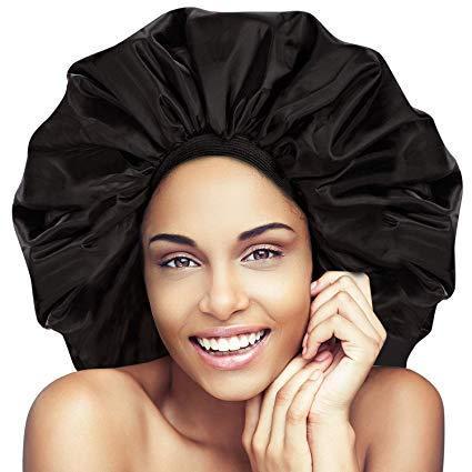 Satin Hair Bonnet   Night/Sleep Cap   Jumbo Super Size –  https://www.hairyounique.com