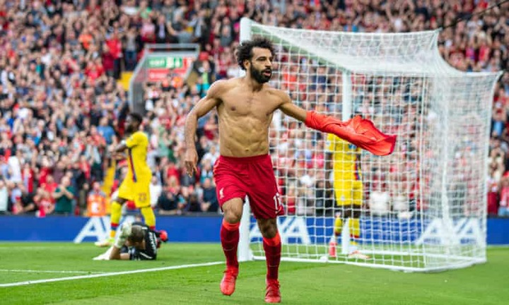 Goal machine' Mohamed Salah as good as Lewandowski, says Jürgen Klopp    Liverpool   The Guardian