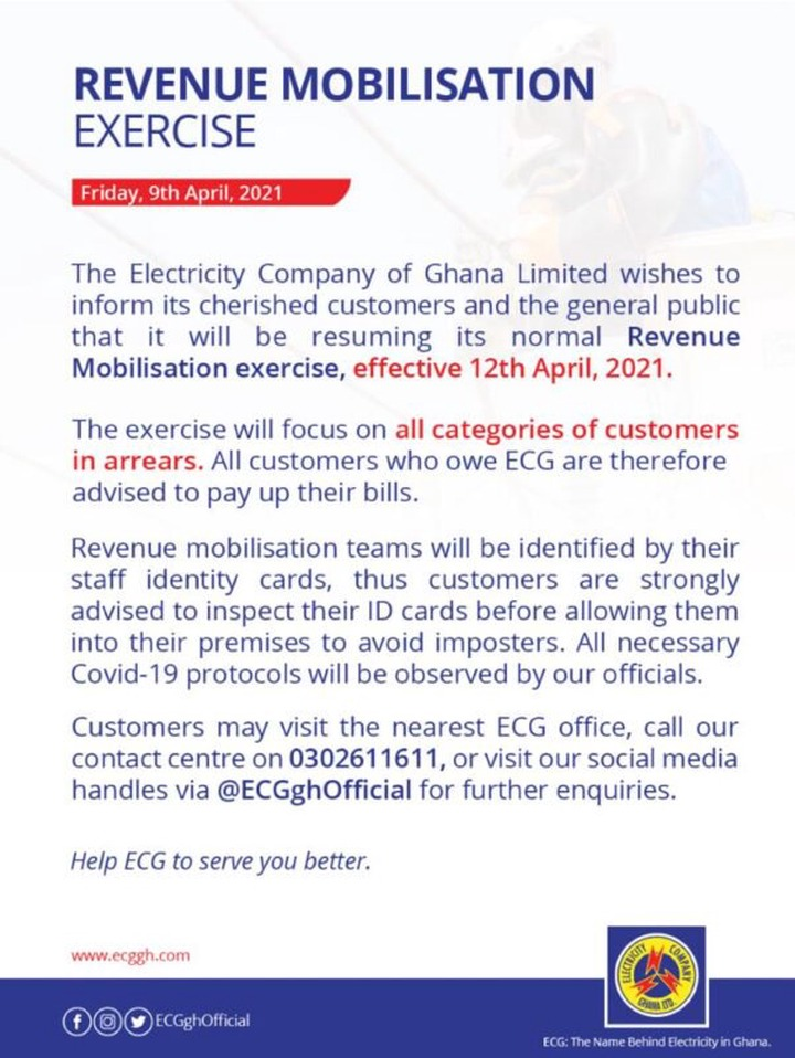 ECG starts mass disconnection from Monday. 49