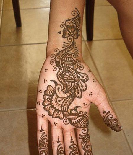 mehndi designs for hands simple