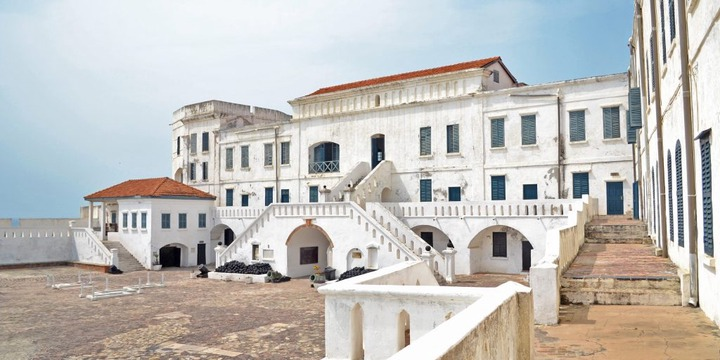 The Cape Coast castle in Ghana, Accra.