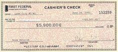 Cashier's check examples, examples of Cashier's check | Examples10.com