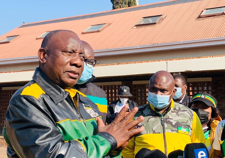 Johannesburg mayor Jolidee Matongo campaigning in Soweto with ANC president Cyril Ramaphosa hours before Matongo died in a car crash.